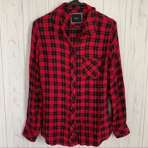 Rails Red and Black Plaid Flannel